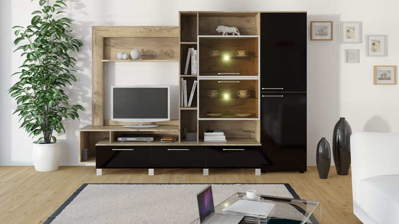 Современная мебельная стенка мк42 для